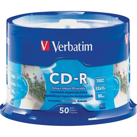 Verbatim 52x CD-R Media - Printable - 50 Pack - 95005