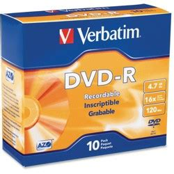 Verbatim 97956 DVD+R 4.7GB 16X with Branded Surface - 10pk Box - 120mm - 2 Hour Maximum Recording Time