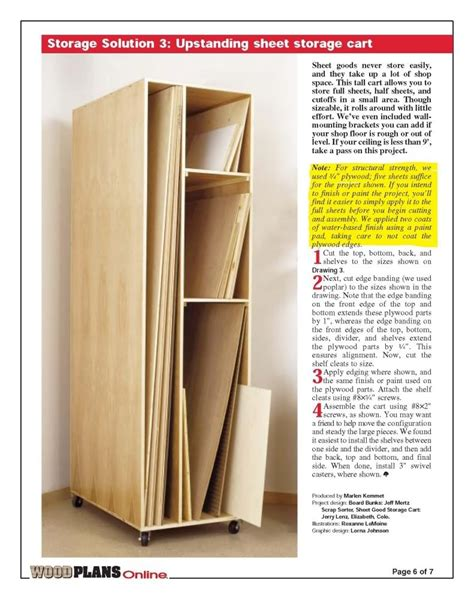 Vertical Plywood Storage Rack Plans
