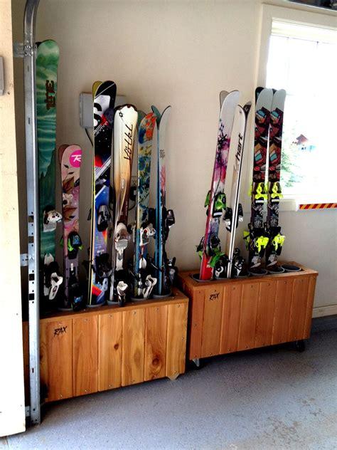 Vertical-Ski-Rack-Plans