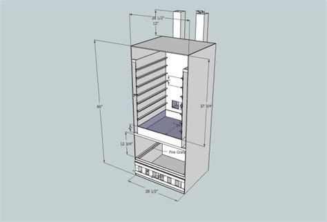 Verticle Reverse Flow Smoker Plans