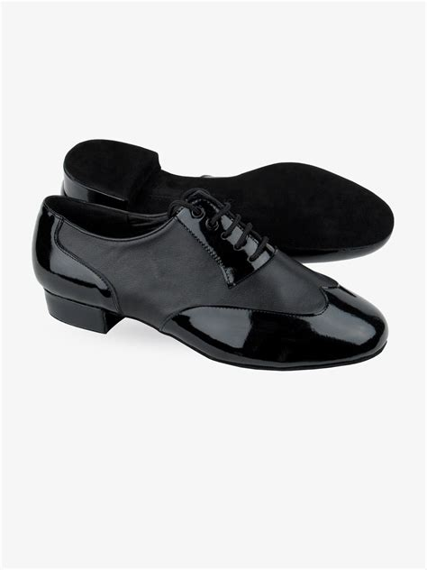 Very Fine Shoes Men's Standard & Smooth Competitive Dancer Series CD1420 Black Leather with 1' heel (7.5)