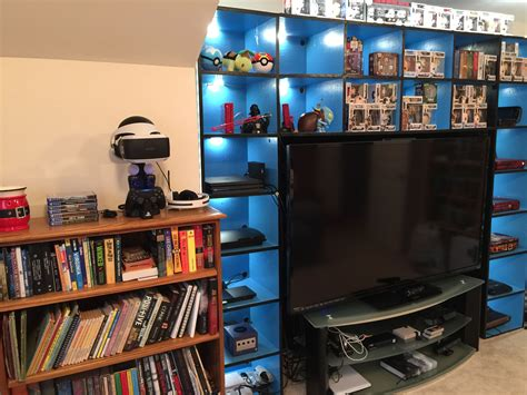 Video Game Console Shelf Plans