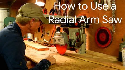 Video On How To Use A Radial Arm Saw