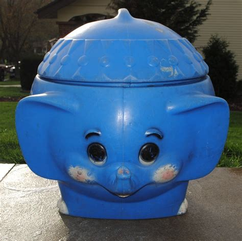 Vintage Blue Elephant Toy Box