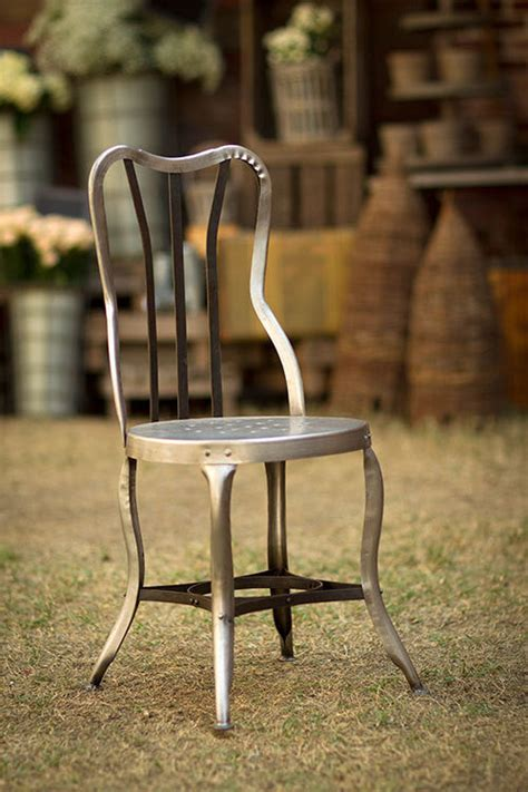 Vintage Chair With Metal Accents