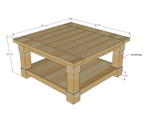 Vintage Coffee Table Diy Typical Dimensions