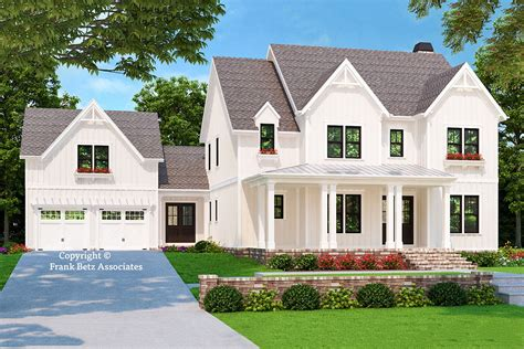 Vintage Farmhouse Plans With Attached Garage