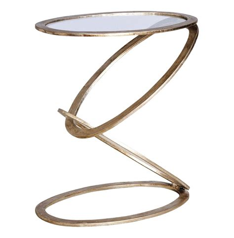 Vintage Metal Leaf Side Table