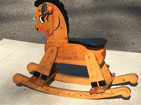 Vintage Wooden Rocking Horse Chair