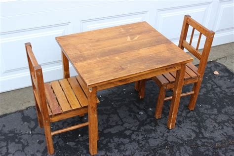 Vintage-Childrens-Wooden-Table-And-Chairs