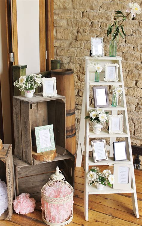 Vintage-Ladder-Wedding-Table-Plan
