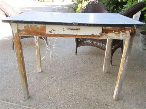 Vintage-Metal-Farm-Table