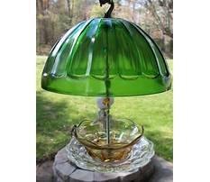 Best Vintage glass hanging bird feeders