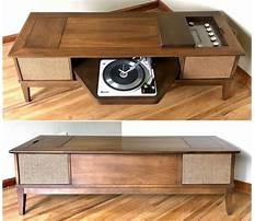 Best Vintage record player end table cabinet
