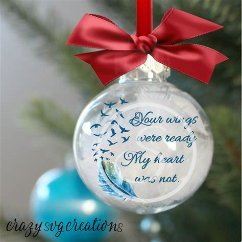 Vinyl Diy Ornament With Picture Inside From Heaven