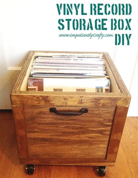 Vinyl Record Storage Box Diy