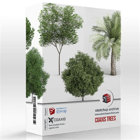 ☎ Vray Sketchup Plants | Free plans