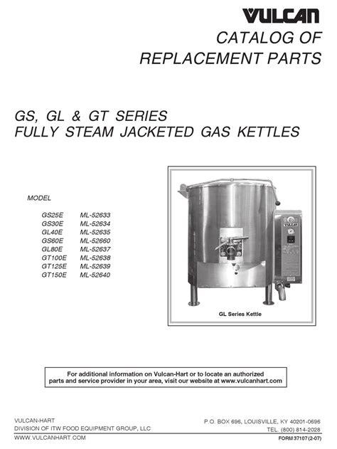 Vulcan-Hart GL40E ML-52635 Manual pdf manual
