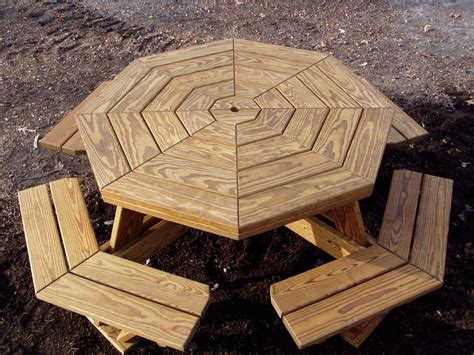 Walk In Octagon Picnic Table Plans Free