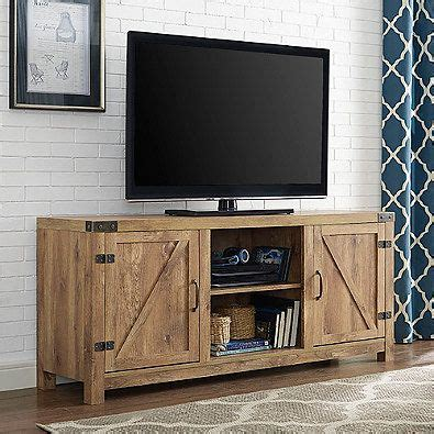 Walker Edison Barn Door Tv Stand In Chestnut