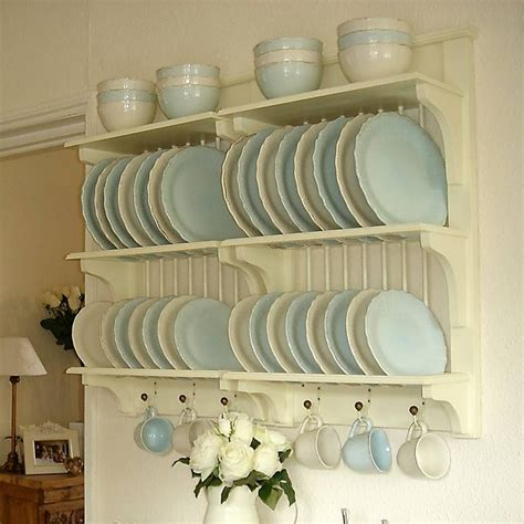 Wall Hanging Wooden Plate Rack