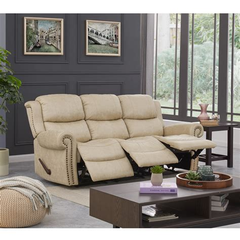 Wall Hugger Reclining Sofa Leather