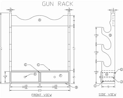 Wall Mount Gun Rack Blueprints