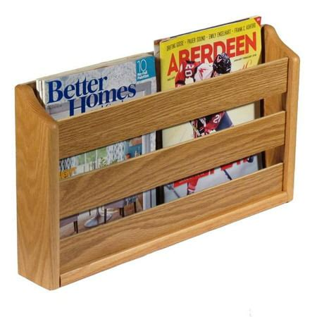 Wall Mount Magazine Rack Wood For Rvs
