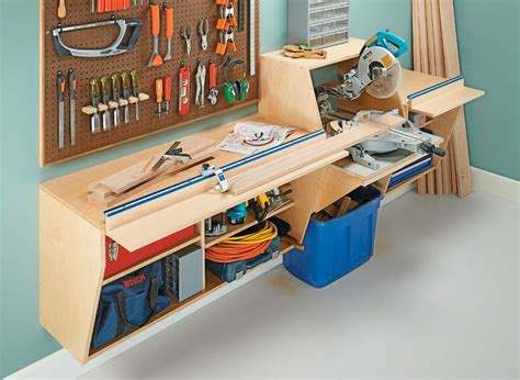 Wall Mount Miter Saw Station Plans