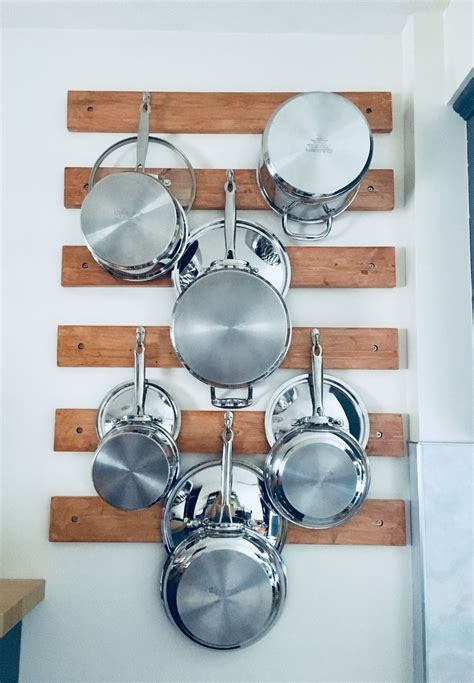 Wall Mount Pot Rack Diy Projects