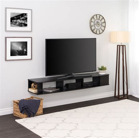Wall Mount Tv Stand With Shelves Plans