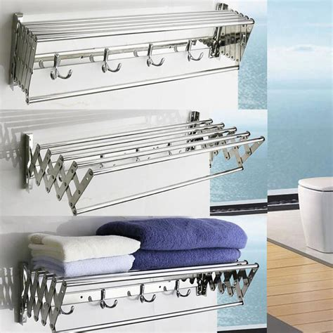Wall Mounted Clothes Drying Rack Laundry