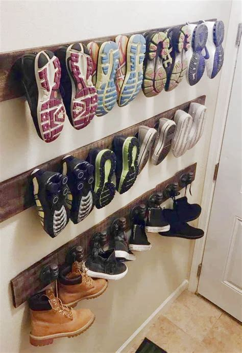 Wall Mounted Clothes Rack Diy Shoe