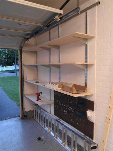 Wall Mounted Garage Shelves Plans