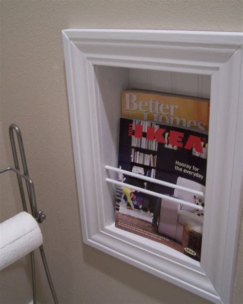Wall Mounted Recessed Magazine Rack