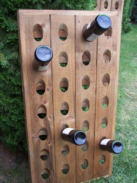 Wall Mounted Wine Riddling Rack Plans