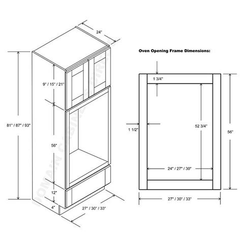 Wall Oven Cabinet Dimensions