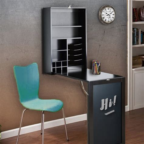 Wall Unit With Fold Down Desk