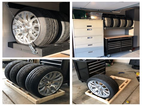 Wall-Mount-Tire-Rack-Diy