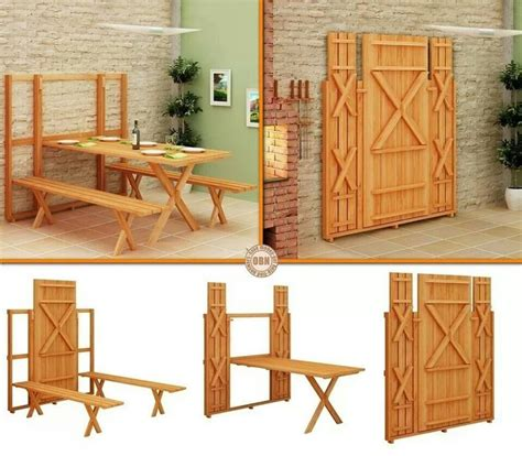Wall-Mounted-Picnic-Table-Plans