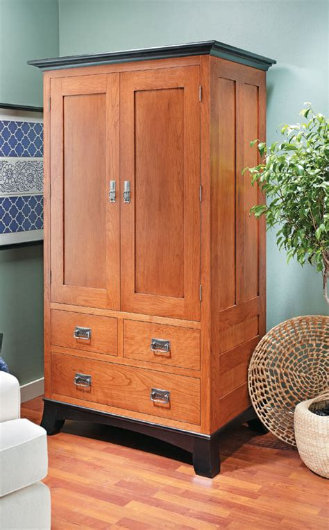 Wardrobe woodworking plans Image