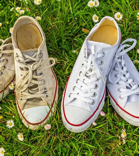 Wash White Converse Sneakers