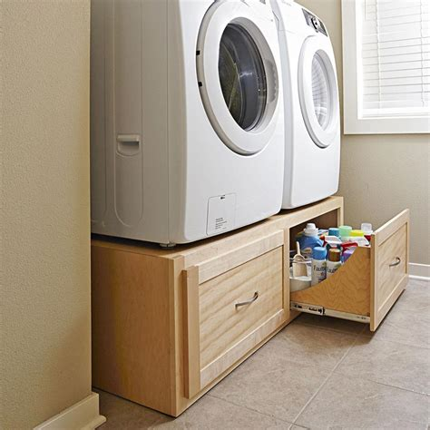 Washer And Dryer Base Cabinet Plans