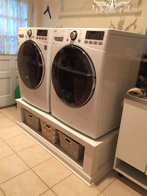 Washer Dryer Platform Diy