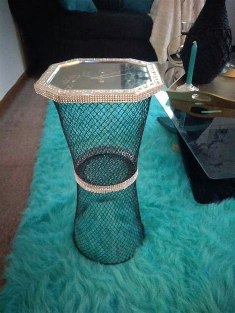 Wastebasket Table DIY