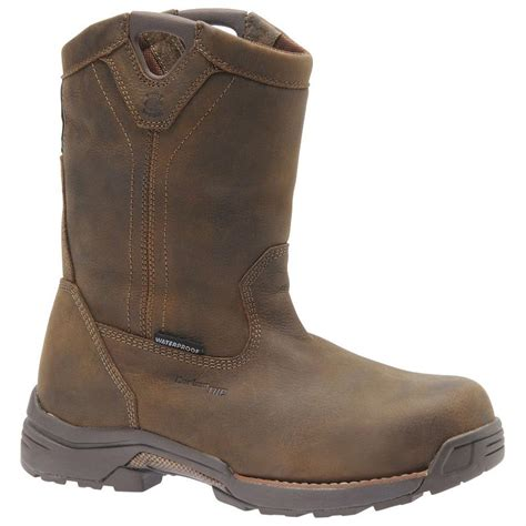 Waterproof 10in. Steel Toe Wellington Boot - Brown