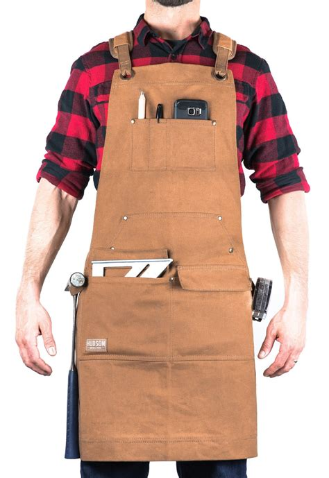 Waxed-Canvas-Woodworking-Apron