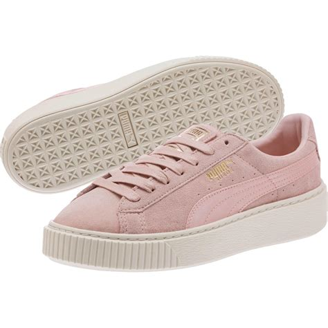 Wearing Puma Suede Summer Satin Platform Sneakers