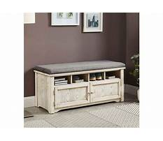 Best Weathered wood shoe bench